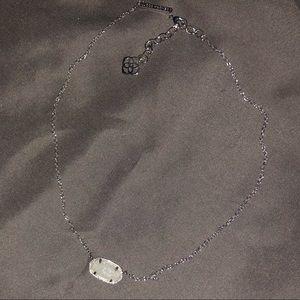 Kendra Scott Elise iridescent drusy necklace